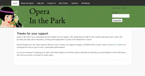 Screenshot of operainthepark.com.au