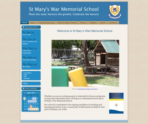 Screenshot of St Mary's